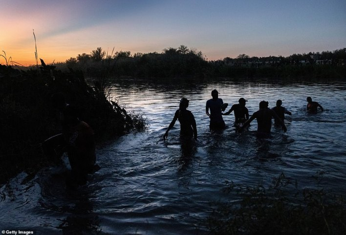 After Border Patrol cracked down on the dam crossing, migrants had to find other ways to cross between the U.S. and Mexico – like the Haitian immigrants walking through waist-high water in the Rio Grande