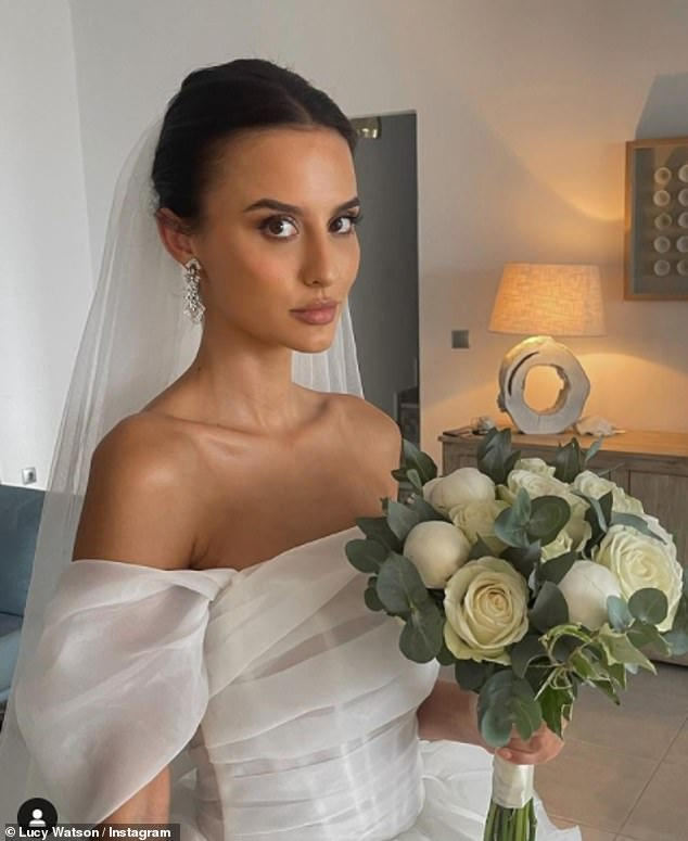 EMOTIONAL: Lucy Watson Reveals She Couldn't Stop Crying The Morning Of Her Destination Wedding After A Big Thunderstorm Was Predicted For The Big Day