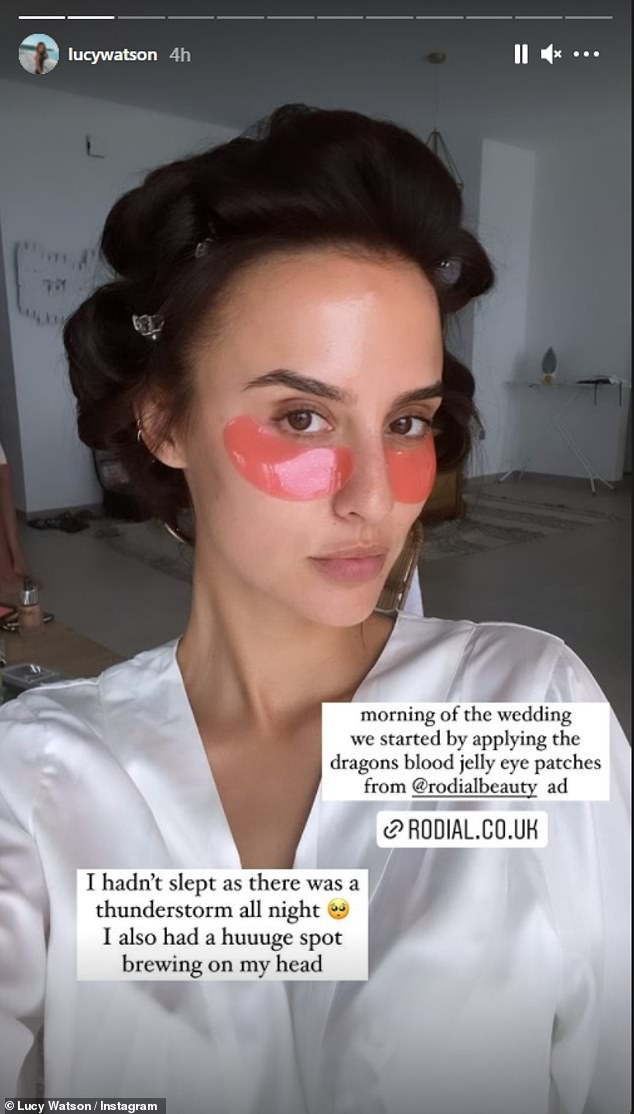 Taking to Instagram on Monday, the former Made in Chelsea star, 30, revealed how she spent a fortune on her Greek wedding with husband James Dunmore