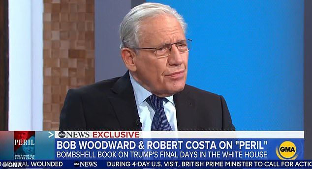 Journalist and author Bob Woodward said Monday morning that Chairman of the Joint Chiefs of Staff Mark Milley briefed four entities on his backchannel calls with China behind then-President Trump's back
