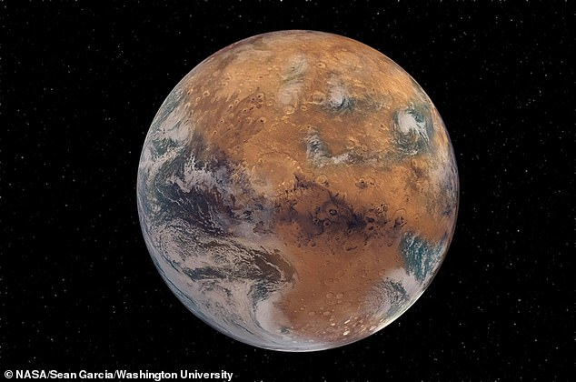 Mars once used to have liquid water, but it is now an arid desert landscape and this may be because it is too small to retain moisture, according to planetary scientists.