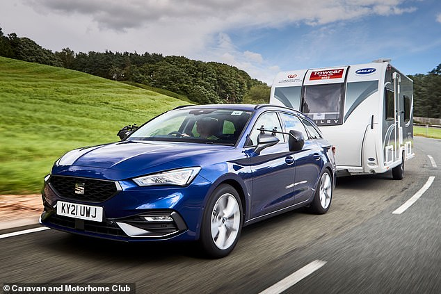 On the bridge: the Sit Lyon estate named as the UK's best motor for towing by the Caravan and Motorhome Club