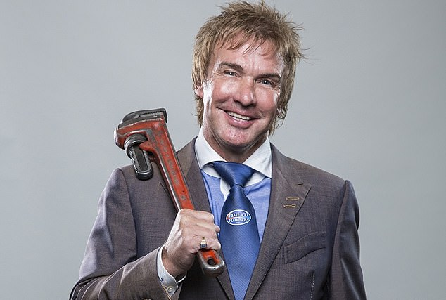 Cash flood: Charlie Mullins, who founded Pimlico Plumbers in 1979, in line for windfall gains of over £100m