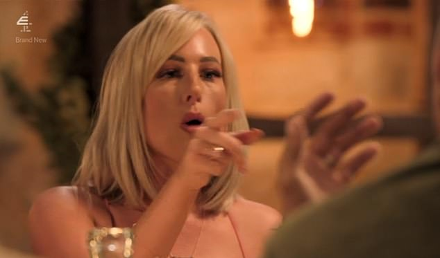 Married at First Sight's final dinner party descended into chaotic screaming match in tonight's episode as Morag Crichton (pictured) branded Joshua Christie a 'f****** liar' for saying he didn't remember sliding into her DMs