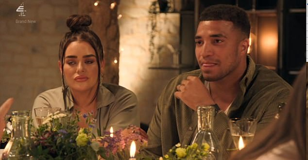 Despite Morag's friend and Joshua's wife Amy Christophers saying she 'didn't care' about the previous contact, the argument blew up with many of the contestants storming off. Amy and Joshua are pictured
