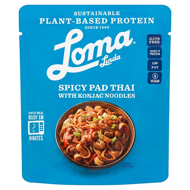 Loma Linda Spicy Pad Thai with Konjac Noodles