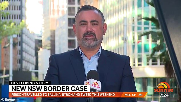 Deputy NSW Premier John Barilaro (pictured) earlier admitted a return to lockdown for the area was under discussion and could be brought in within hours.