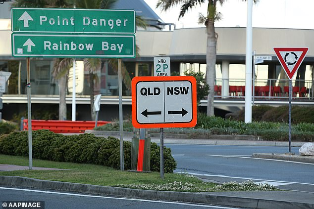 Students and essential workers from the LGAs have been able to travel into Queensland from September 13 but the arrangement is now back in jeopardy after the infected worker visited areas included in the border bubble. (Pictured, the state border)