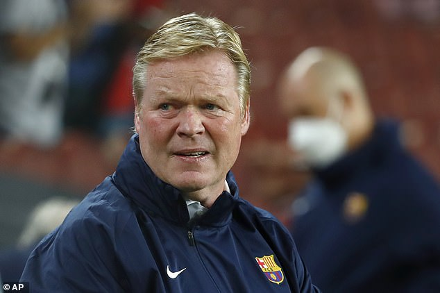Ronald Koeman was forced to throw Gerard Pique into the attack in search of an equaliser