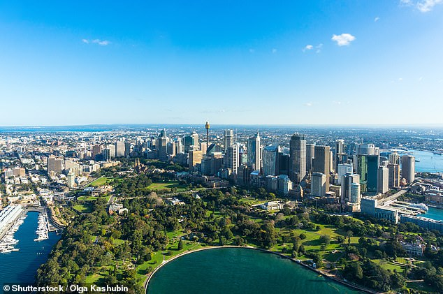 Jetstar's 24 hour flight sale also includes discounted flights from interstate to Sydney (pictured from the air)