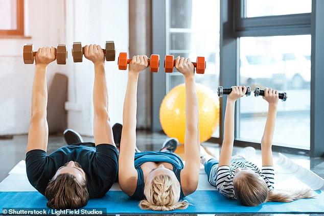 It is possible to be 'fat but fit' – people simply need to focus on exercise rather than dieting to live longer, experts now claim (stock image)