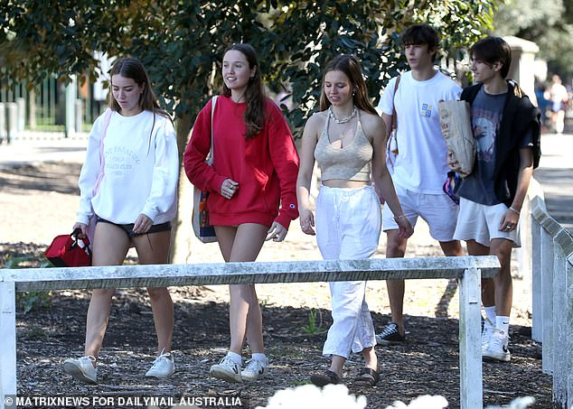 In new rules announced on Monday night, under-18s in NSW are now able to visit each others' homes and gather in groups of three as part of a friends' bubble