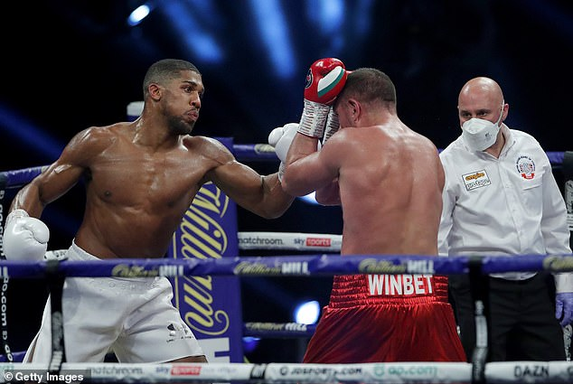 Joshua stayed at a lighter weight for his last fight, a ninth-round knockout of Kubrat Pulev