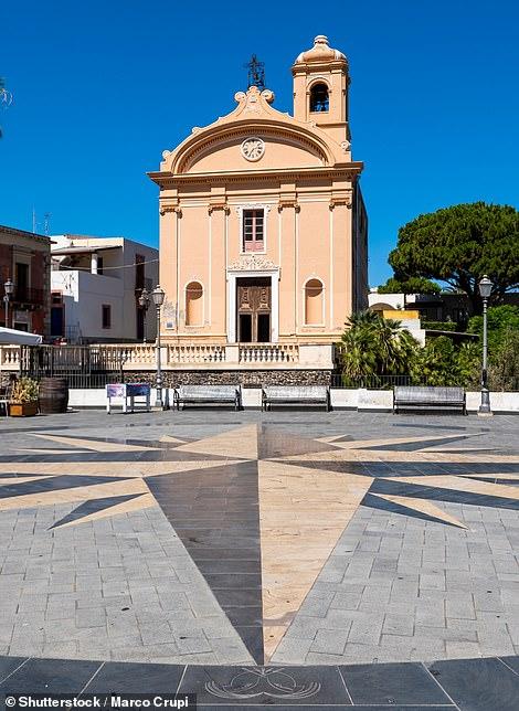 A church in Mafia, one of five tiny charming towns strung along Salina's coast
