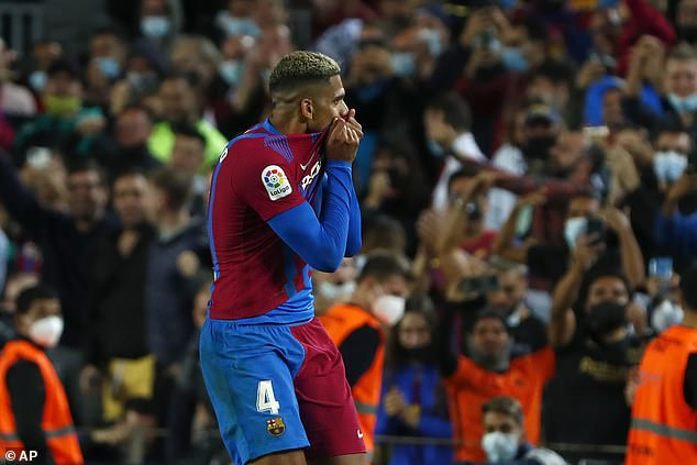 The Catalan giants needed a 90th-minute header from Ronald Araujo to save a point