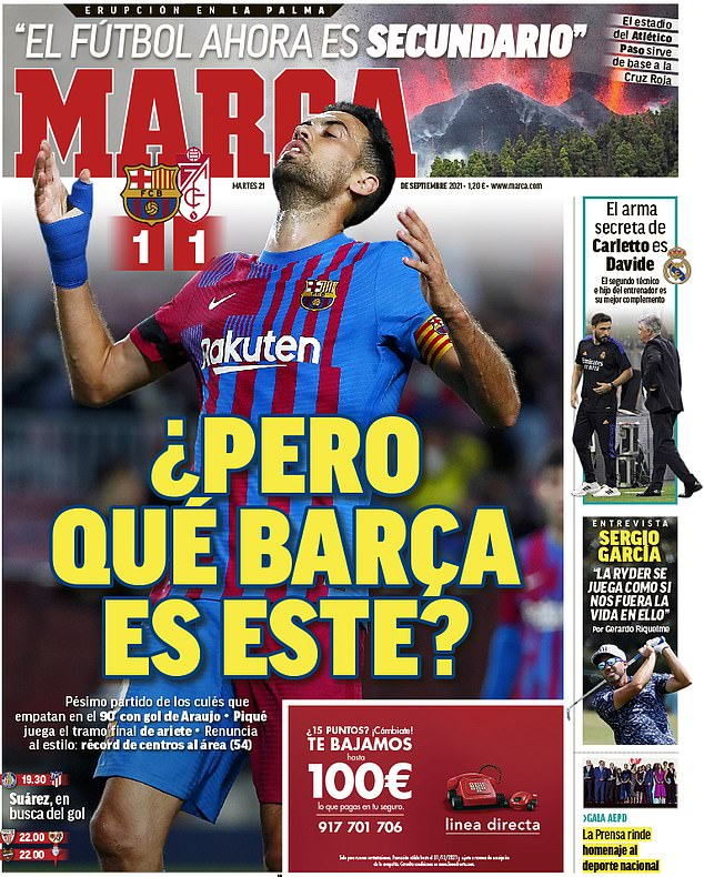 'What is this Barcelona?': Marca criticizes Barcelona's 'horrendous' performance at Camp Nou
