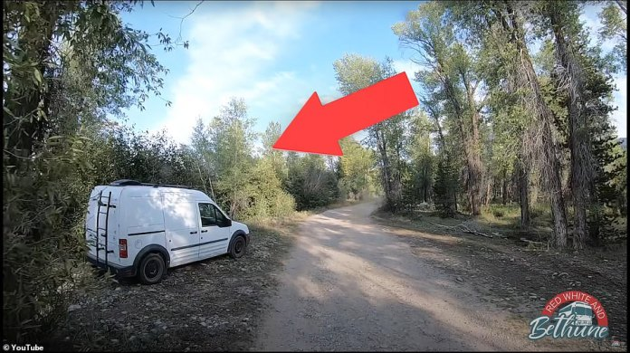 Gabby's transit van was filmed by a Youtuber on August 27th at the Spread Creek campsite, and the remains were found not far from where the van was photographed