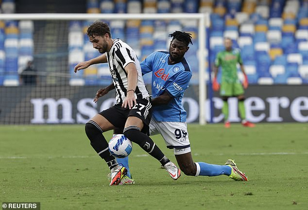 Former Fulham starFrank Zambo Anguissa (right) has made an immediate impact in Italy