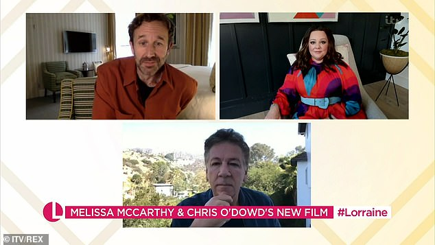 Funny: Talking about her cameo, Melissa, who was on the show with Chris O'Dowd, was asked: 'Who better juggler, Chris or Prince Harry?'