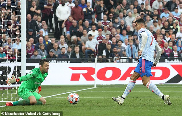 When United were behind at West Ham, Ronaldo had emerged with an equalizer with a single finish