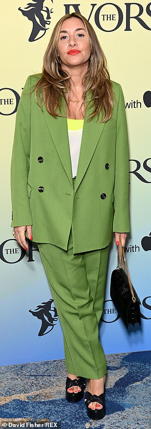 Chic: Melanie was beautiful in green with sky high heels