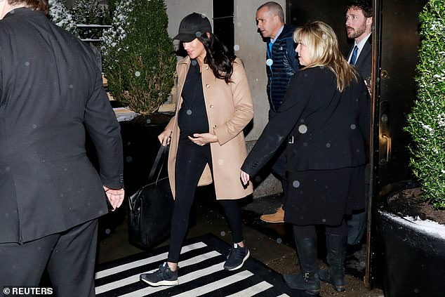 Meghan has made several high-profile trips to New York to visit friends in recent years, including her $500,000 baby shower