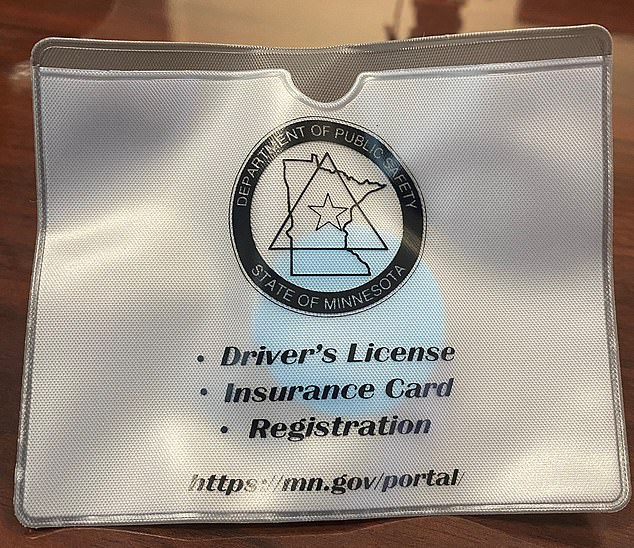 The Minnesota Department of Public Safety offers drivers a 'not-reaching pouch' that allows drivers to keep their license and insurance