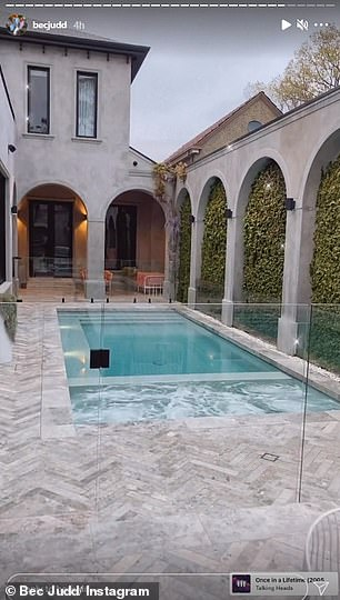 Lush: A large heated pool and jacuzzi area lies just metres away from the home