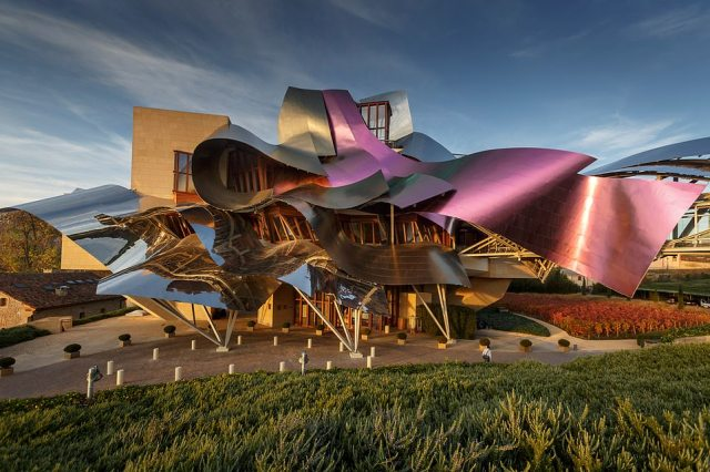 The stunning Bodegas de los Herederos del Marques de Riscal in Spain's Rioja region took second place