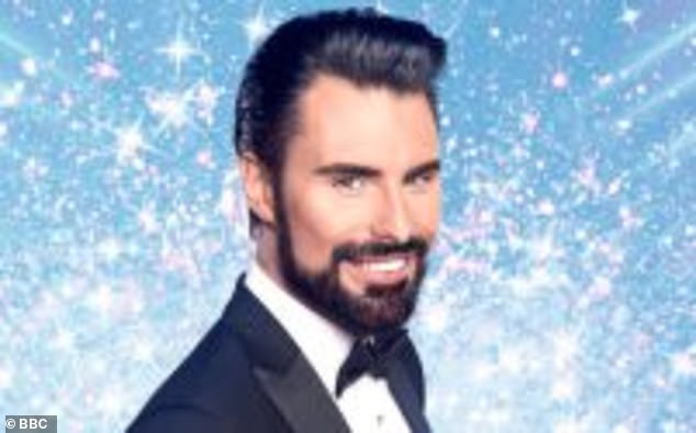 The 'new telly wife': Rylan, 32, introduced his 'new telly wife' Janet, 37, on Instagram on Tuesday, as he uploaded a never-before-seen photo of the pair in their dazzling Strictly dress.