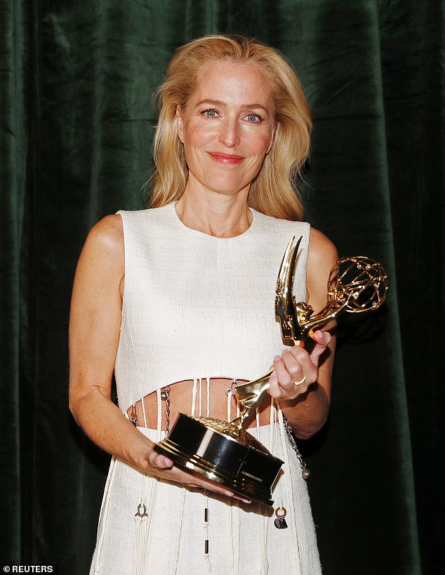 'Big' win: Gillian wins Supporting Actress in a Drama Series for her role as Margaret Thatcher in The Crown on Sunday