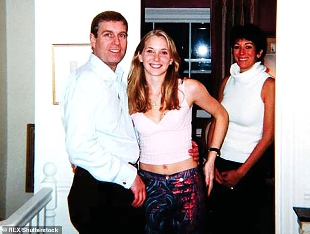 Prince Andrew has conceded proper service of process in the New York lawsuit filed against him by Virginia Giuffre. Pictured: The Duke of York with Virginia Roberts, as she was know at the time aged 17, and Ghislaine Maxwell in London