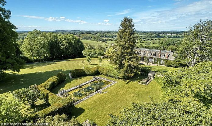 Sweeping: The property is located close to the quaint village of Compton Bassett in Wiltshire