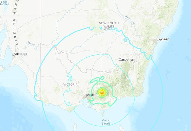 Geoscience Australia said a 5.8 magnitude earthquake was recorded at a depth of 10km at 9.15am with its epicentre near Mansfield