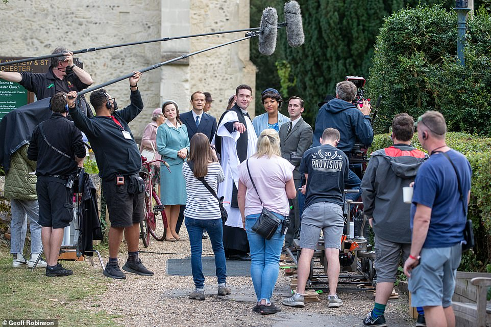 , Grantchester stars Tom Brittney and Robson Green hug cast members and say emotional goodbyes, The Evepost BBC News