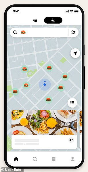 Finding burgers with the burger emoji will show all nearby places that sell burgers