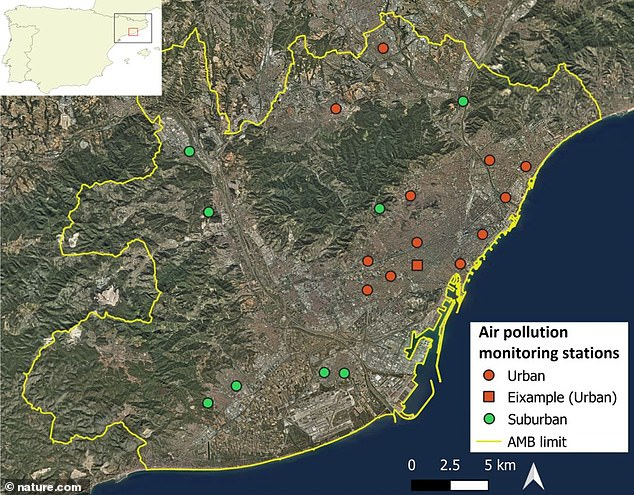 The researchers based their findings on mobility and air quality data obtained in Barcelona during the COVID-19 lockdown