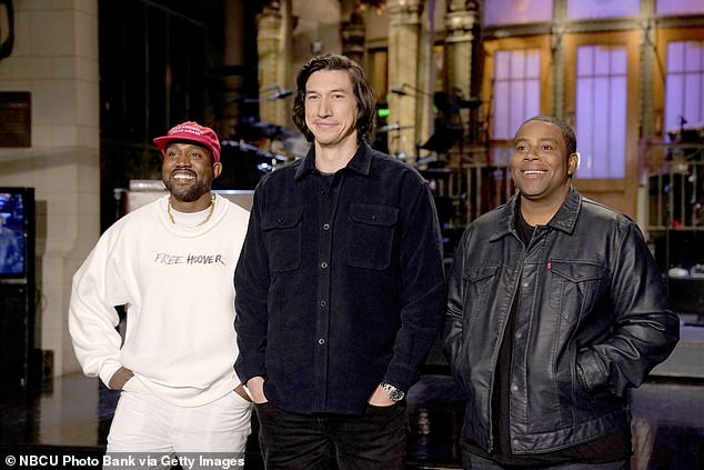 Out West:She'll be the first Kardashian to host, although estranged husband Kanye West last controversially appeared on the show in 2018, going on a long rant about Donald Trump following the broadcast. It was his seventh time as musical guest