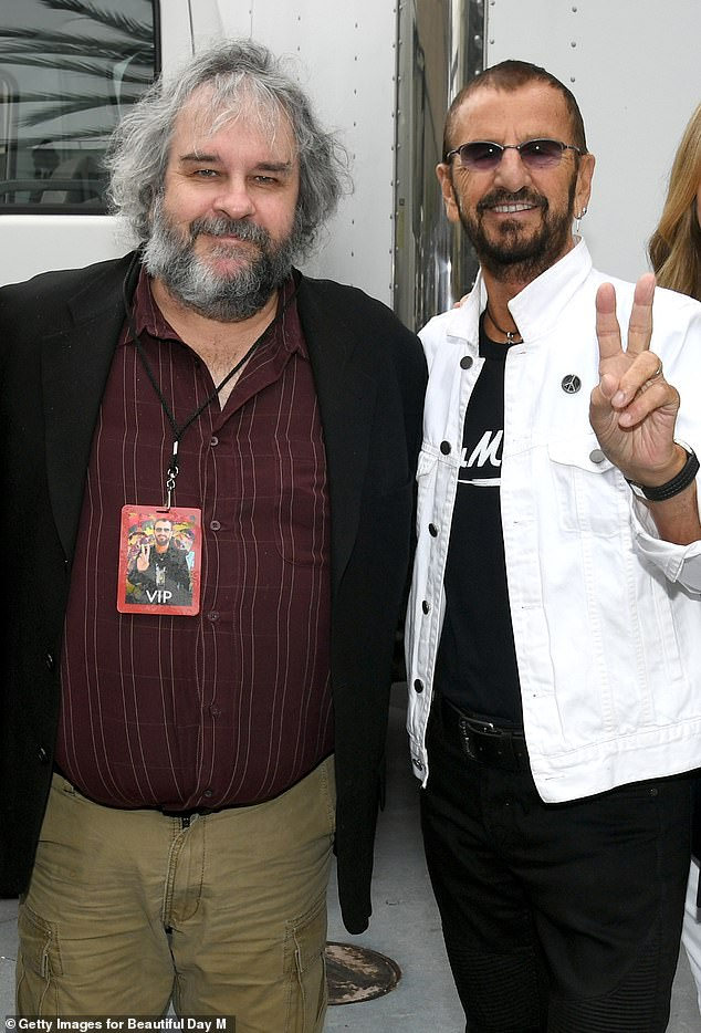 Collab: Ringo also revealed details of an upcoming three-part documentary by Peter Jackson: The Beatles: Get Back, set for release in November (pictured together in 2019)
