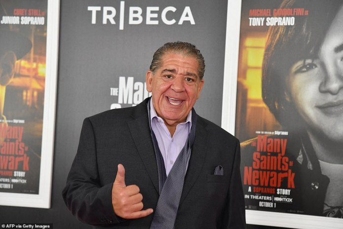 Hang loose:Joey 'Coco' Diaz, who is set to play an unknown character in the film, flashed the 'hang loose' symbol as he beamed on the red carpet