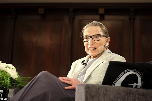 Ruth Bader Ginsburg, pictured in 2018, stood out as one of the most prominent figures in modern women's rights in America.  She co-founded the ACLU's Women's Rights Project in 1972