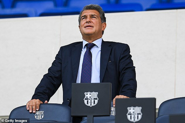 Barcelona president Joan Laporta also asked the club's supporters to stand by the team.