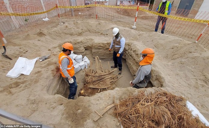 Workers of the same company found 30 other ancient bodies as part of efforts to lay gas pipes in Chilka in 2018.