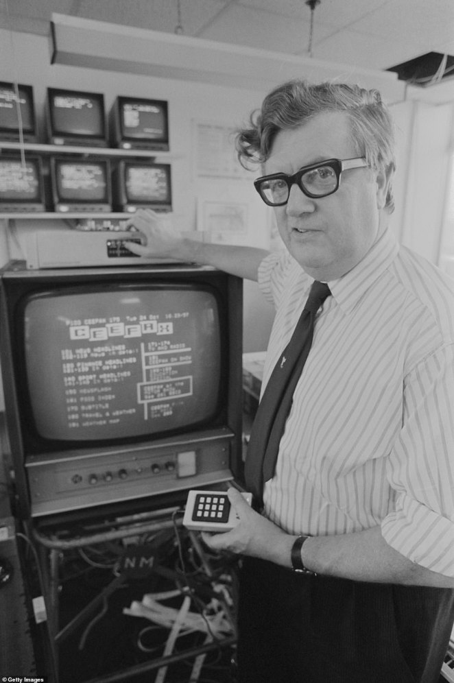 Ceefax's first editor was veteran journalist Colin McIntyre, who initially updated the 24 pages himself by feeding a yard-long punched tape into machines