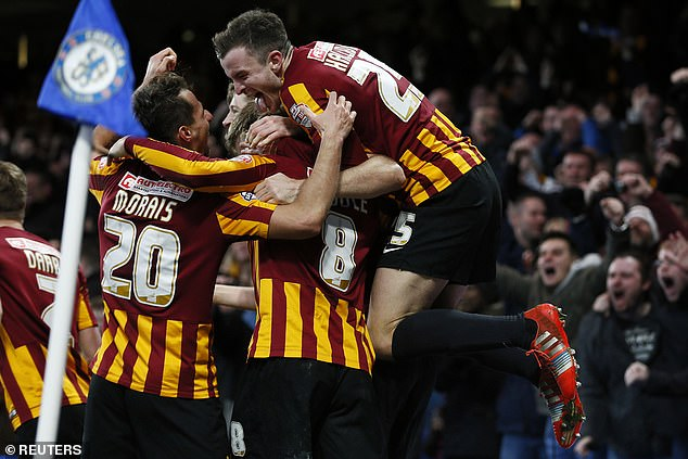 The Portuguese scored Bradford's second goal as the Bantams beat Chelsea 4-2 in the FA Cup