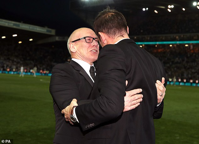 Lampard (right) claims Morris (left) cares deeply about the club and is good on a human level