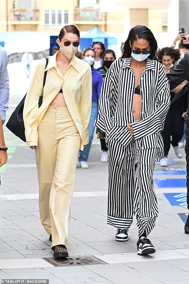 , Joan Smalls shows off her style in sheer bralette as she leaves Max Mara show with Gigi Hadid, The Today News USA