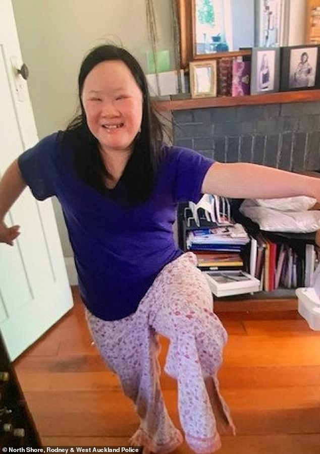 The body of Auckland woman Lena Zhang,  27, with down's syndrome (pictured) was found in bushland near Mount Albert on Wednesday after she left her home at around 6:30am