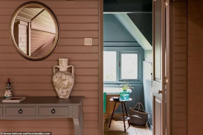 dead salmon?  The updated color scheme sees muted pinks and mauve updating the bedroom and communal areas