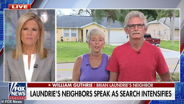 Charlene and William Guthrie told Fox they spotted the Laundries leaving for a camping trip just days after Brian Laundrie returned home alone without the missing Gabby Petito